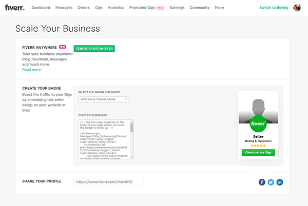 Using Fiverr scale your business